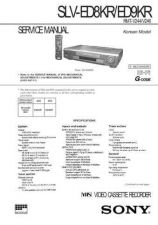 Buy SONY SLVE700 VIDEO SERVICE MANUAL Technical Info by download #105159