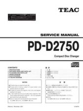 Buy Teac PD-D2750 Service Manual by download Mauritron #223824