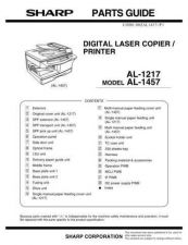 Buy Sharp AL1217-1457 PG GB Service Manual by download Mauritron #207994