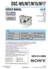 Buy Sony DSC-W5W7W15W17[2] Service Manual by download Mauritron #240387
