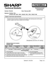 Buy SHARP FAX245 TECHNICAL BULLETIN by download #104413