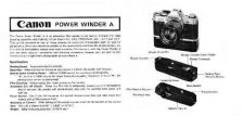 Buy CANON POWERWINDERA FD CAMERA INSTRUCTIONS by download #118457