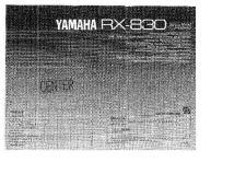 Buy Yamaha RX-V800RDSKAI Operating Guide by download Mauritron #249835
