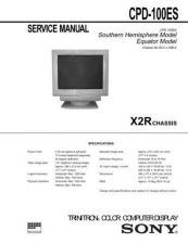 Buy Sony CPD-100ES Service Manual by download Mauritron #239247