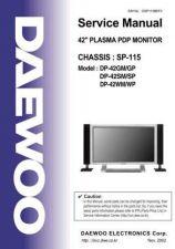 Buy Daewoo SP-115 Manual by download Mauritron #226764