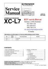 Buy PIONEERN XCL7 RRV1849 CD Technical Information by download #119437