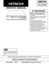 Buy Hitachi SM 8106E Manual by download Mauritron #225598