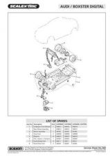 Buy Scalextrix No.369 Audi Boxster Service Sheets by download Mauritron #206500
