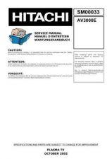 Buy Hitachi AV3000E Service Manual by download Mauritron #263321