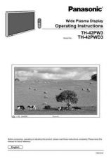 Buy Panasonic TH42PW4AZ Operating Instruction Book by download Mauritron #236570