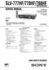 Buy Sony SLV-777HF778HF788HF Technical Manual. by download Mauritron #243920