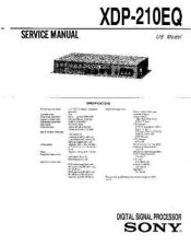 Buy Sony XDP-210EQ-2 Service Manual. by download Mauritron #245915