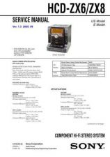 Buy Sony HCD-ZX6-ZX8 Service Manual by download Mauritron #232055
