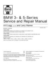Buy BMW 525i (88 to 91) Service Guide Manual by download Mauritron #230265