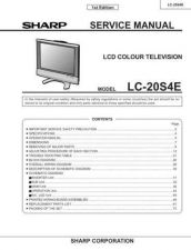 Buy Sharp LC20SH1E (1) Service Manual by download Mauritron #209918