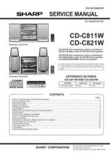 Buy Sharp CDC811-821W Service Manual by download Mauritron #208562