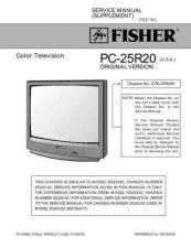 Buy Fisher PC-20S00M(SM5110089-01) Manual by download Mauritron #216081