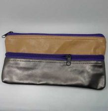 Buy BEAUTIFUL CUTE IMITATION SOFT LEATHER PURSE WALLET COIN BAG BROWN COLOR & 2 ZIPS
