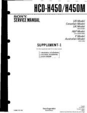 Buy Sony HCD-H450. Service Manual by download Mauritron #241118