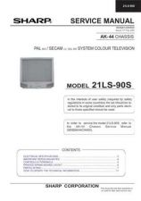 Buy Sharp 21LS90S (1) Service Manual by download Mauritron #207473