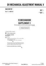 Buy Sony DV MECHANICAL ADJUSTMENT MANUAL V by download Mauritron #240465