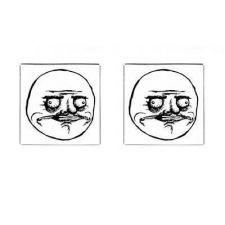 Buy Me Gusta Rage Face Comic Meme Art Square Cufflinks