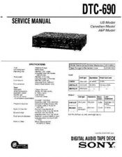 Buy Sony dtc-670 Service Manual by download Mauritron #240451