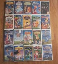 Buy 20 Disney Clamshell VHS Video Kids Movie Lot Masterpiece Classic Collection