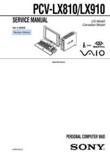 Buy Sony PCV-L620 Service Manual. by download Mauritron #243446