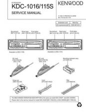 Buy KENWOOD KDC-1016 115S Technical Information by download #118627