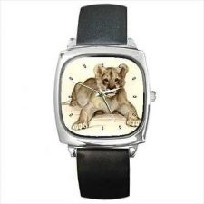 Buy Lion Cub Wild Cat Unisex Animal Art Wrist Watch NEW