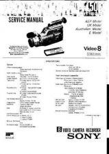 Buy SONY CCDF450E CAMCORDER SERVICE MANUAL (13372) Technical Info by download #1046