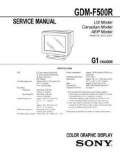 Buy Sony GDM-F500R Service Manual by download Mauritron #240805