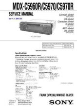 Buy Sony MDX-C5970 service manual Technical Manual. by download Mauritron #242747