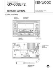 Buy KENWOOD GX-608EF2(SUBARU) Technical Information by download #118610