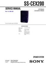 Buy Sony SS-CEX200 Service Information by download Mauritron #238096