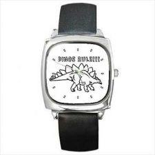 Buy Dinos Rule Dinosaur Cartoon Unisex Square Wrist Watch New