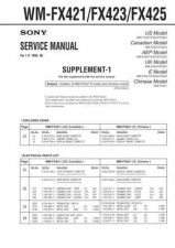 Buy Sony WM-FX421FX423FX425 Service Manual. by download Mauritron #245809