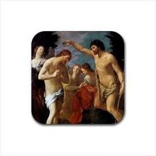 Buy Baptism Of Christ Set Of 4 Square Rubber Coasters