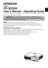 Buy Hitachi CP2022T SV Manual by download Mauritron #224577