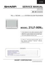 Buy Sharp 21LF90N Service Manual by download Mauritron #207462