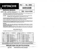 Buy Hitachi 50EX20B Service Manual Schematics by download Mauritron #205817