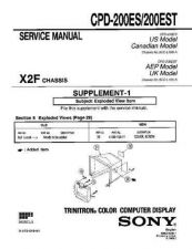 Buy Sony CPD-200ES... Service Manual by download Mauritron #239270