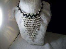 Buy Fashion Seed Beaded Choker Bib style Black and White Necklace christmas/beaded