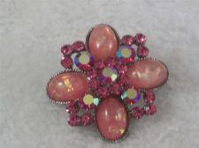 Buy Vintage Cara Brooch Pink Aurora Borealis Rhinestone Confetti Brooch/pin/signed
