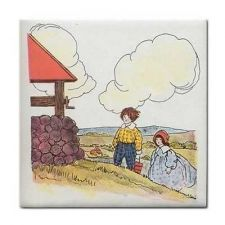 Buy Jack And Jill Rhyme Vintage Art Ceramic Tile