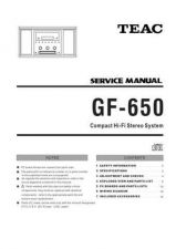 Buy Teac GF-650 Service Manual by download Mauritron #223749