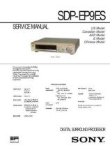 Buy Sony SDP-EP9ES Service Information by download Mauritron #238031