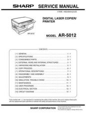 Buy Sharp AR5120-5015N (1) Service Manual by download Mauritron #208135