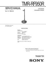 Buy Sony TMR-RF960R Service Manual. by download Mauritron #245579